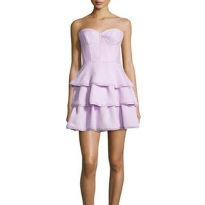 BCBG MaxAzria Jacklyn Strapless Ruffle Dress